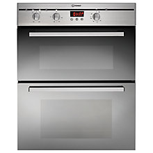 Buy Indesit FIMU23IX Double Electric Oven, Stainless Steel Online at johnlewis.com
