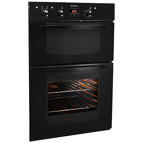 Buy Indesit FIMD23BKS Double Electric Oven, Black Online at johnlewis.com