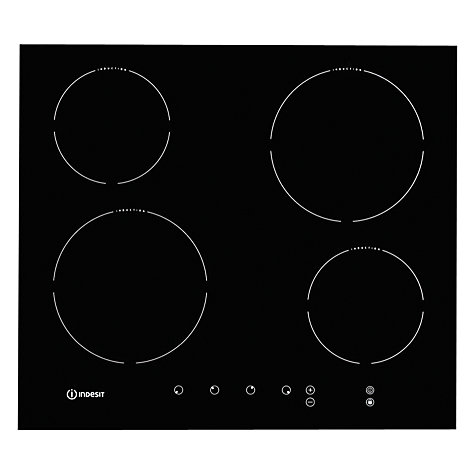 Buy Indesit VIA640C Induction Hob, Black Glass Online at johnlewis.com