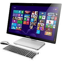 "Buy Lenovo IdeaCentre A730 All-in-One Desktop PC, Intel Core i7, 6GB RAM, 1TB+8GB SSD, Blu-ray, 27"" Touch Screen Online at johnlewis.com"