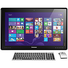 "Buy Lenovo IdeaCentre Horizon Portable All-in-One Table Desktop PC, Intel Core i7, 8GB RAM, 1TB+8GB SSD, 27"" Touch Screen, Metal Online at johnlewis.com"