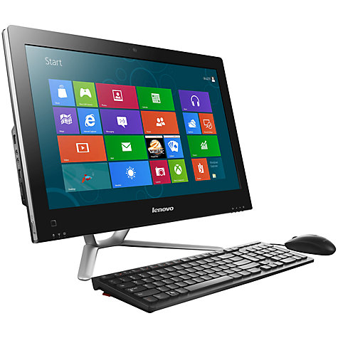 "Buy Lenovo C340 All-in-One Desktop PC, Intel Pentium, 4GB RAM, 1TB, 20"", Black Online at johnlewis.com"