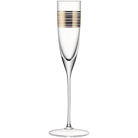 Buy LSA Garbo Striped Flutes, Set of 2 Online at johnlewis.com