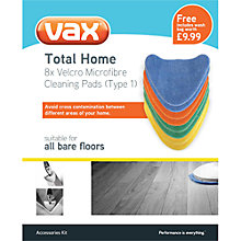 Buy Vax Total Home Velcro Microfibre Cleaning Pads Type 1 Online at johnlewis.com