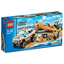 Buy LEGO City Coast Guard 4x4 & Diving Boat Online at johnlewis.com