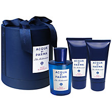 Buy Acqua di Parma Blu Mediterraneo Fico di Amalfi Eau de Toilette Gift Set, 150ml Online at johnlewis.com