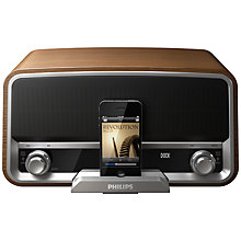 Buy Philips ORD7300/10 DAB/FM iPod Dock, Wood Online at johnlewis.com