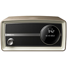 Buy Philips Original Radio Mini DAB/FM Clock Radio, Mocca Online at johnlewis.com