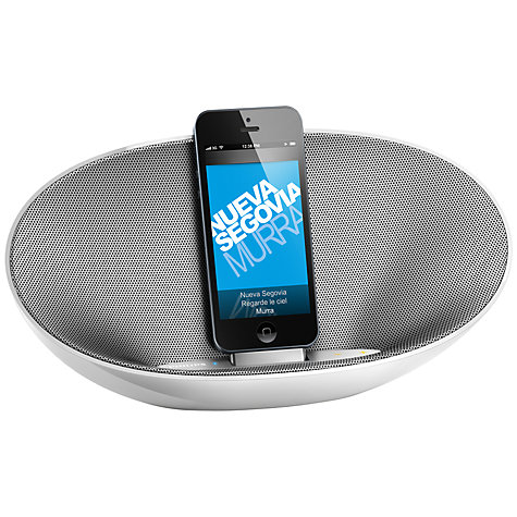 Buy Philips DS3480/05 Portable Bluetooth iPod Dock with Apple Lightning, White/Grey Online at johnlewis.com