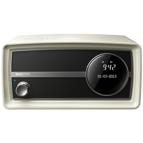 Buy Philips Original Radio Mini DAB/FM Bluetooth Clock Radio, Cream Online at johnlewis.com