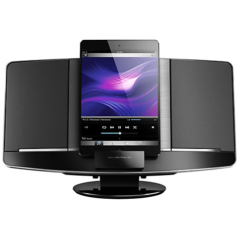 Buy Philips DCB2077 DAB/FM Micro System with iPad/iPod/iPhone Dock, Black Online at johnlewis.com