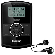 Buy Philips' DA1200 DAB+ Personal Stereo Radio, Black Online at johnlewis.com