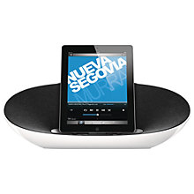 Buy Philips DS8300/10 Bluetooth iPod Dock with Apple Lightning, White/Grey Online at johnlewis.com