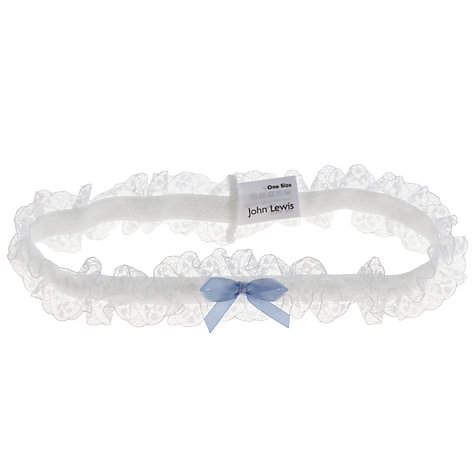 Buy COLLECTION by John Lewis Lana Lace Bridal Garter, Ivory Online at johnlewis.com