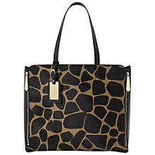 Buy Dune Delourz Side Zip Shopper Bag, Giraffe Print Online at johnlewis.com