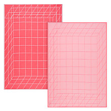 Buy Hay Box Tea Towel, Set of 2, Pink Online at johnlewis.com