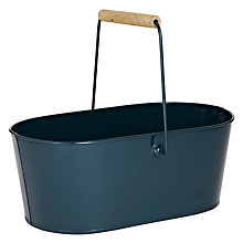 Buy John Lewis Restoration Resto Enamel Trug, Blue Online at johnlewis.com