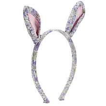 Buy John Lewis Girl Ditsy Bunny Ears Alice Band, Multi Online at johnlewis.com