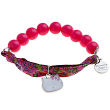 Buy John Lewis Girl Hello Kitty Liberty Fabric Bead Bracelet, Pink/Multi Online at johnlewis.com