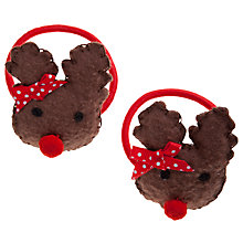 Buy John Lewis Girl Reindeer Hairbands, Pack of 2, Brown Online at johnlewis.com