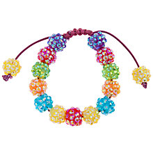 Buy John Lewis Girl Rainbow Fireball Bracelet, Multi Online at johnlewis.com