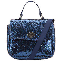 Buy John Lewis Girl Crunch Glitter Satchel, Blue Online at johnlewis.com