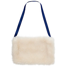 Buy John Lewis Girl Faux Fur Hand Warmer, White Online at johnlewis.com