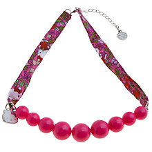 Buy John Lewis Girl Hello Kitty Liberty Fabric Bead Necklace, Pink/Multi Online at johnlewis.com