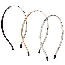 Buy John Lewis Girl Skinny Glitter Alice Bands, Pack of 3, Multi Online at johnlewis.com