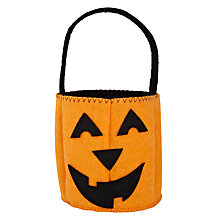 Buy John Lewis Pumpkin Treat Bag, Orange Online at johnlewis.com