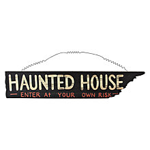 Buy John Lewis Haunted House Halloween Sign Online at johnlewis.com