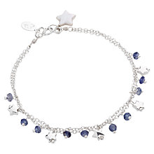 Buy Claudia Bradby Sterling Silver Iolite and Star Charm Bracelet Online at johnlewis.com
