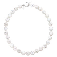 Buy Claudia Bradby Freshwater Coin Pearl Necklace, White Online at johnlewis.com