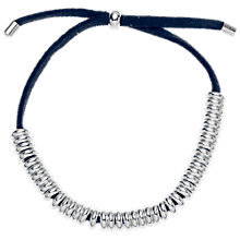 Buy Estella Bartlett Emily Silver Plated Ring Suede Bracelet, Navy Online at johnlewis.com