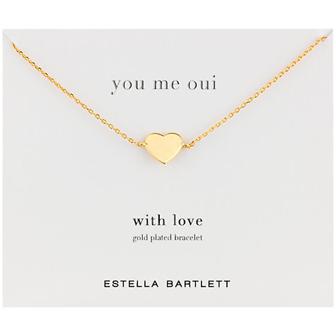 Buy Estella Bartlett You Me Oui Heart Bracelet, Gold Online at johnlewis.com