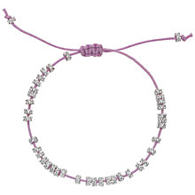Buy Estella Bartlett Daisy Silver Plated Cotton Cord Bracelet Online at johnlewis.com