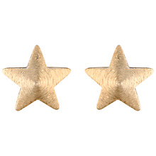 Buy Estella Bartlett Large Star Stud Earrings, Gold Online at johnlewis.com