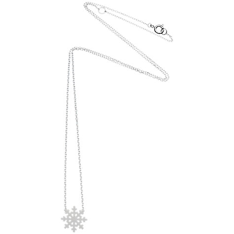 Buy Estella Bartlett Snowflake Silver Plated Pendant Necklace Online at johnlewis.com