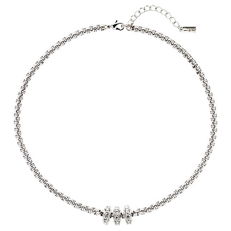 Buy Finesse Rhodium Plated Swarovski Ring Necklace Online at johnlewis.com