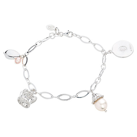 Buy Claudia Bradby Sterling Silver Vintage Royal Baby Charm Bracelet Online at johnlewis.com