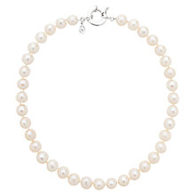 Buy Claudia Bradby Round Freshwater Pearl Necklace, White Online at johnlewis.com