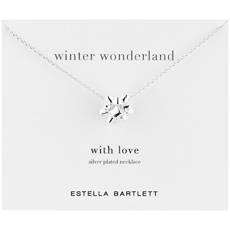 Buy Estella Bartlett Making A List Silver Plated Pendant Necklace Online at johnlewis.com