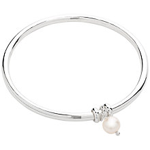Buy Claudia Bradby Sterling Silver Freshwater Pearl Bangle Online at johnlewis.com