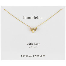 Buy Estella Bartlett Bumblebee Cubic Zirconia Pendant, Gold Online at johnlewis.com