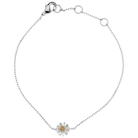 Buy Estella Bartlett Secret Garden Wildflower Bracelet, Silver / Gold Online at johnlewis.com