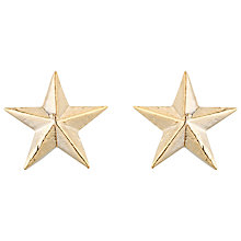 Buy Estella Bartlett Louise Star Stud Earrings, Gold Online at johnlewis.com