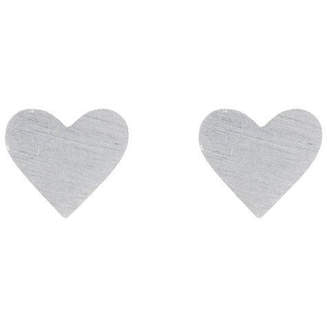 Buy Estella Bartlett Silver Plated Heart Stud Earrings Online at johnlewis.com
