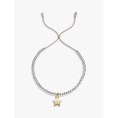 Estella Bartlett Liberty Beaded Star Bracelet, Silver / Gold
