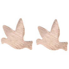 Buy Estella Bartlett Bird Stud Earrings, Rose Gold Online at johnlewis.com