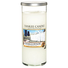 Buy Yankee Candle Clean Cotton Scented Candle, Large Online at johnlewis.com